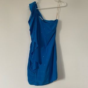 Blue sequined Madison Marcus dress with sequins